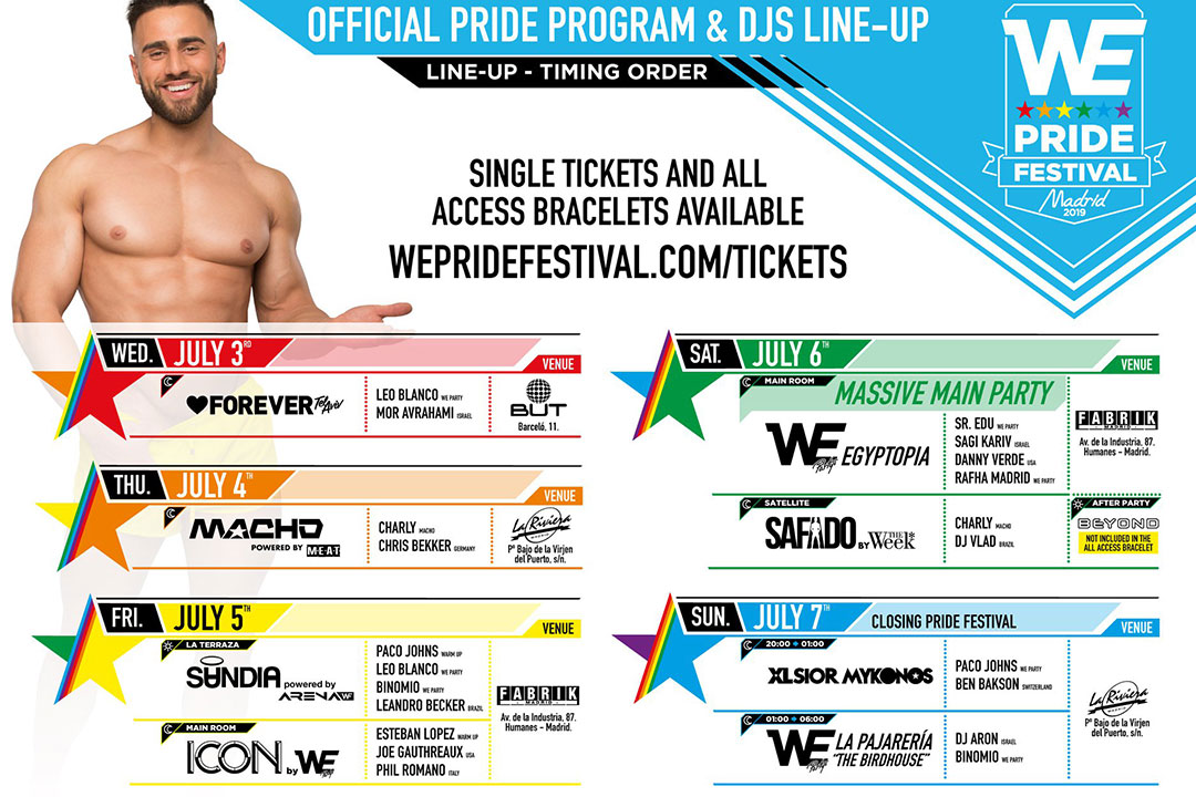 gomadridpride We party pride_festival Official Program 2019 Orgullo Gay